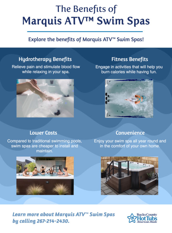 Marquis Swim Spas Benefits at Bucks County Hot Tubs